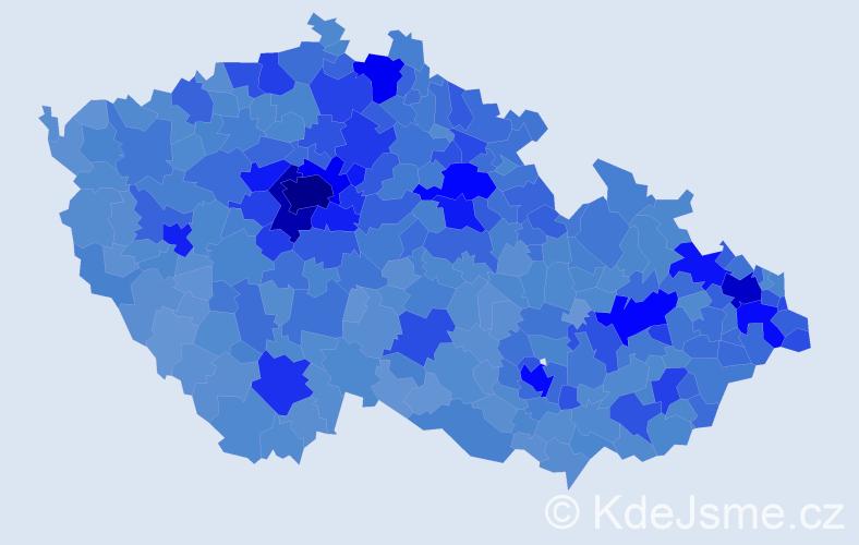 Jméno: 'Jakub', počet výskytů 102449 v celé ČR