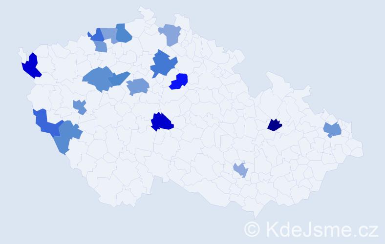 Jméno: 'Quynh Anh', počet výskytů 34 v celé ČR