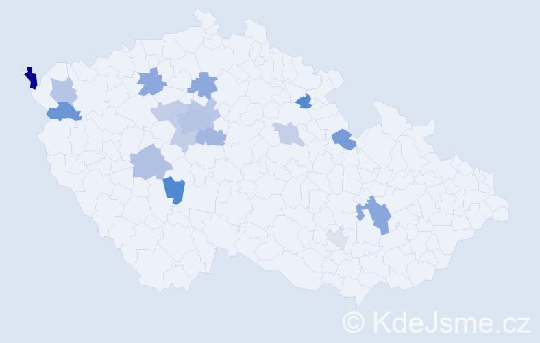 Jméno: 'Daniil', počet výskytů 27 v celé ČR