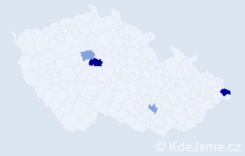 Jméno: 'Celeste', počet výskytů 6 v celé ČR