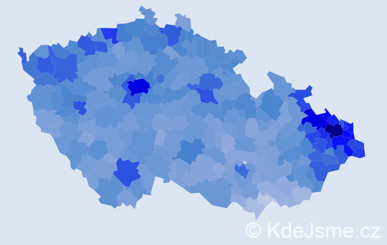 Jméno: 'Daniel', počet výskytů 51855 v celé ČR