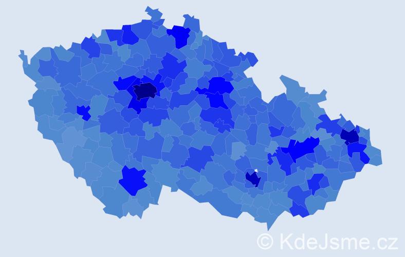 Jméno: 'Martin', počet výskytů 184533 v celé ČR