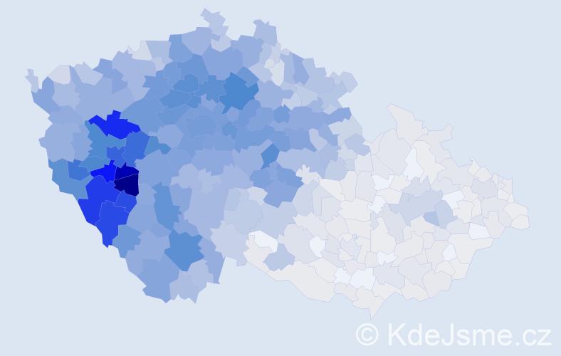 Jméno: 'Václava', počet výskytů 6355 v celé ČR