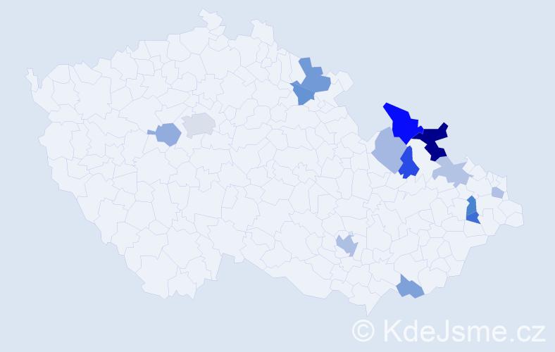 Jméno: 'Vangelis', počet výskytů 25 v celé ČR