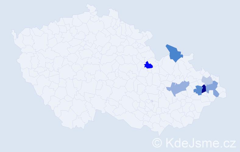 Jméno: 'Šarka', počet výskytů 9 v celé ČR