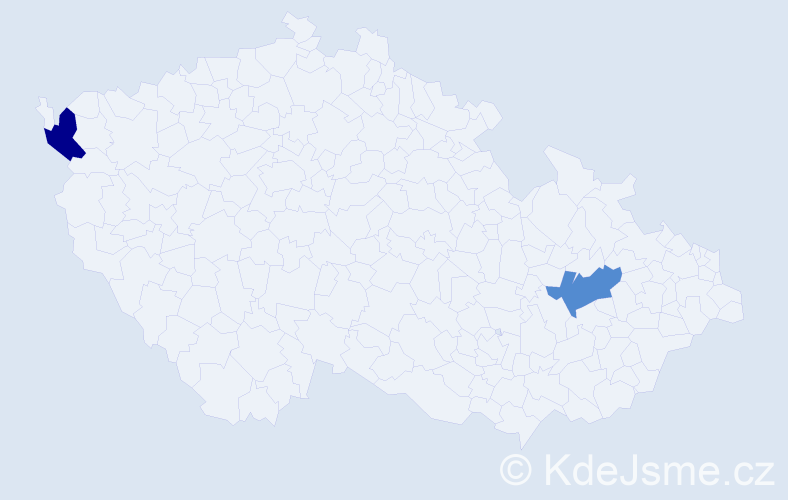 Jméno: 'Štěpán Šimon', počet výskytů 2 v celé ČR