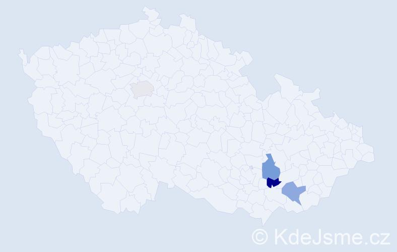 Jméno: 'Šaban', počet výskytů 4 v celé ČR