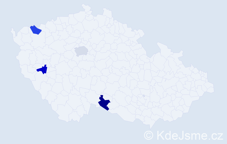 Jméno: 'Gia Long', počet výskytů 5 v celé ČR
