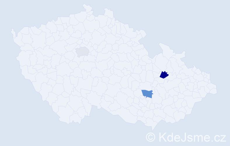 Jméno: 'Vladimír Michael', počet výskytů 3 v celé ČR