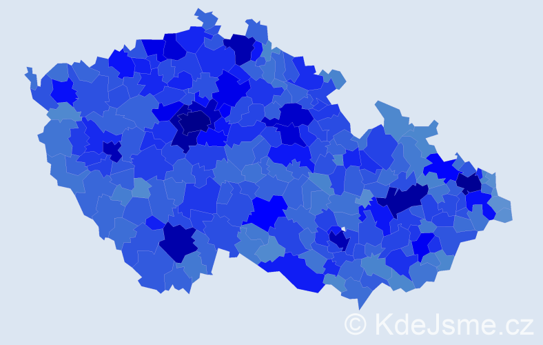 Jméno: 'Petra', počet výskytů 102693 v celé ČR