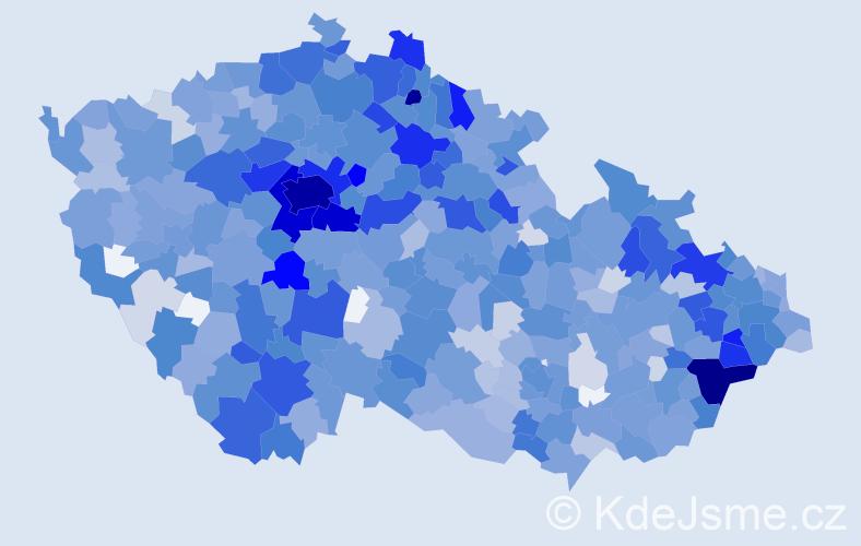 Jméno: 'Rozálie', počet výskytů 2264 v celé ČR