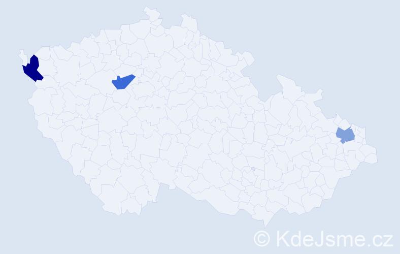Jméno: 'Quang Dung', počet výskytů 3 v celé ČR