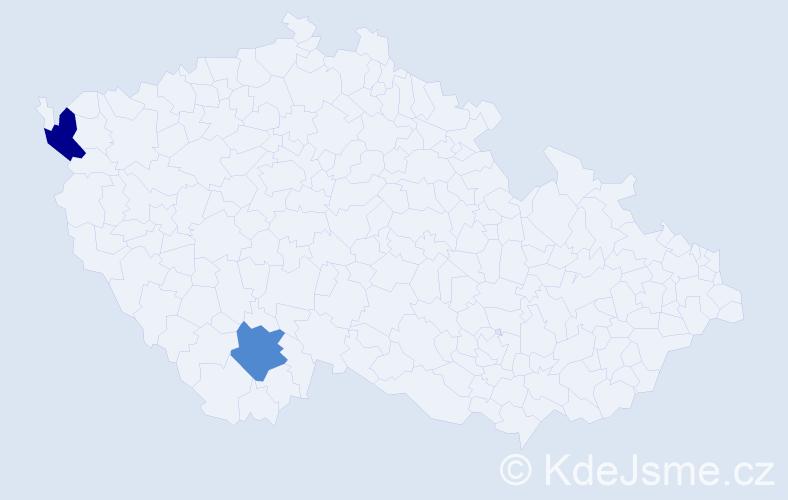 Jméno: 'Gerhard Reinhold', počet výskytů 2 v celé ČR