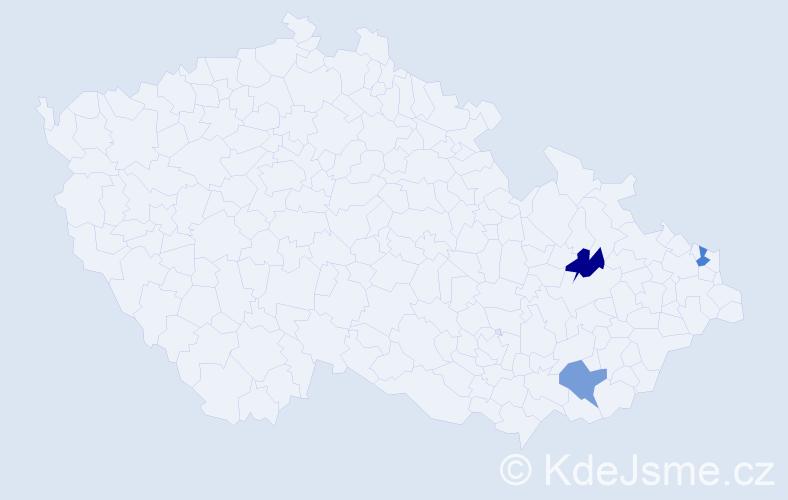 Jméno: 'Štěpán Ondřej', počet výskytů 3 v celé ČR