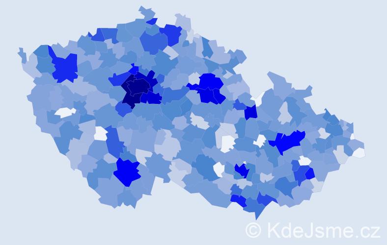 Jméno: 'Ella', počet výskytů 2283 v celé ČR