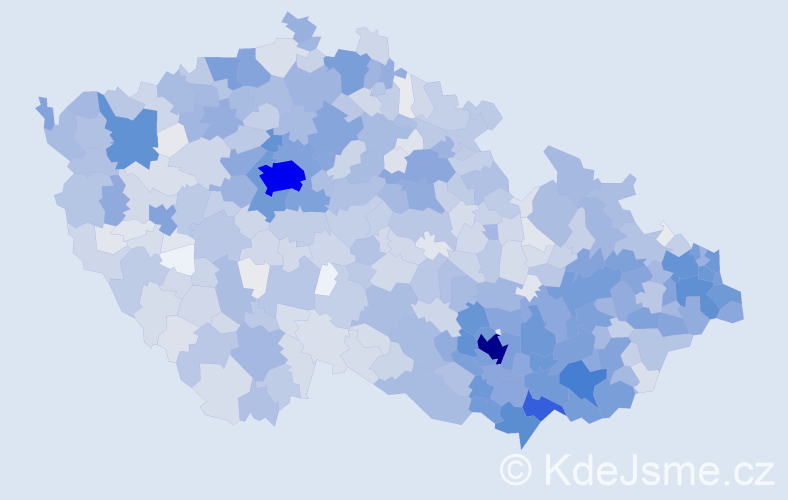Jméno: 'Igor', počet výskytů 6160 v celé ČR