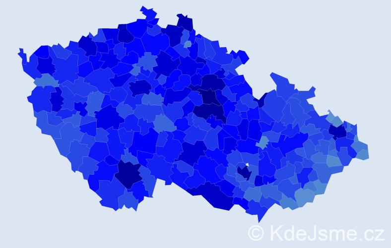 Jméno: 'Milan', počet výskytů 107458 v celé ČR