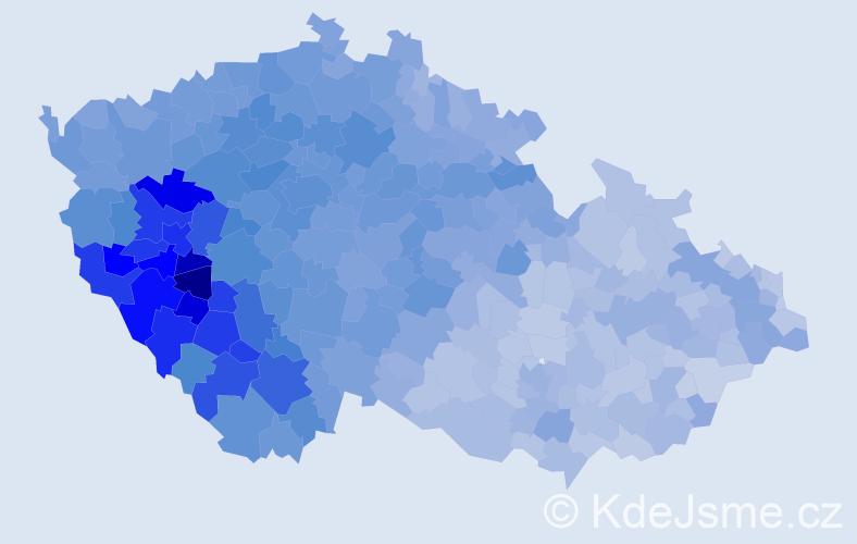 Jméno: 'Václav', počet výskytů 125645 v celé ČR