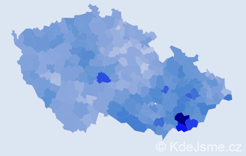 Jméno: 'Antonín', počet výskytů 57679 v celé ČR