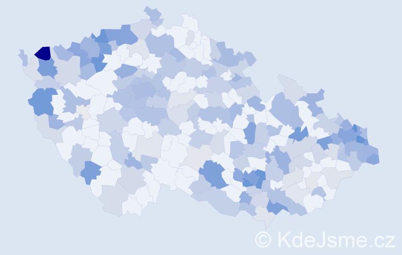 Jméno: 'Claudie', počet výskytů 400 v celé ČR