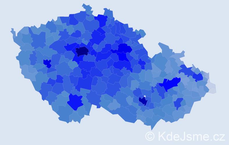 Jméno: 'Hana', počet výskytů 148701 v celé ČR
