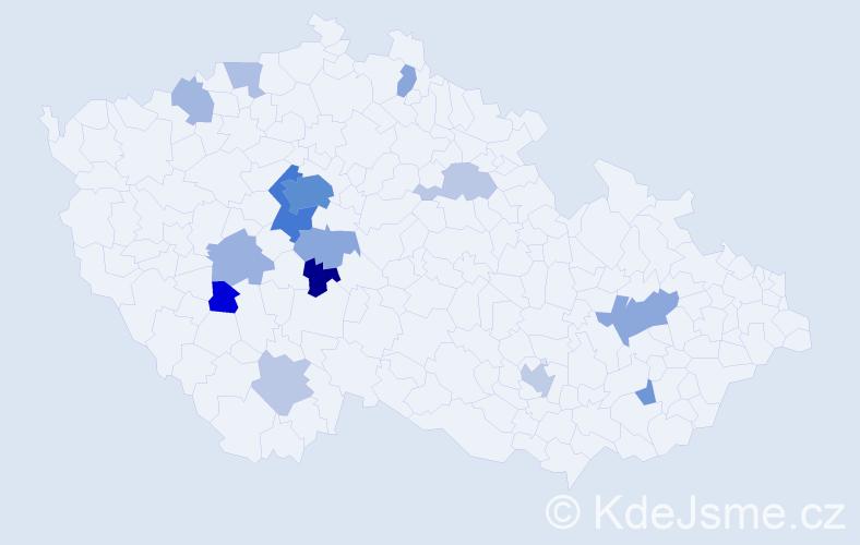 Jméno: 'Šimona', počet výskytů 42 v celé ČR
