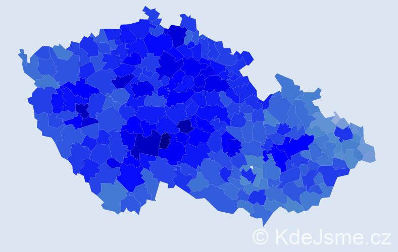 Jméno: 'Jaroslav', počet výskytů 182355 v celé ČR