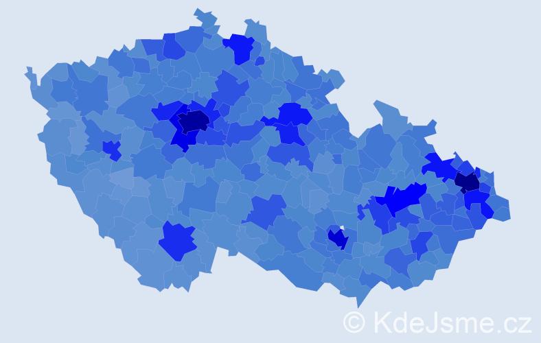 Jméno: 'Tomáš', počet výskytů 175105 v celé ČR