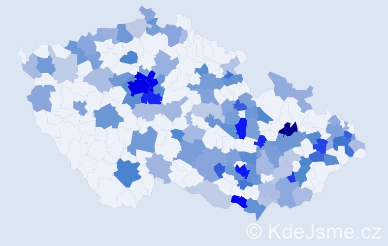 Jméno: 'Lara', počet výskytů 288 v celé ČR