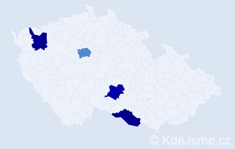 Jméno: 'Irina Vasiljevna', počet výskytů 7 v celé ČR