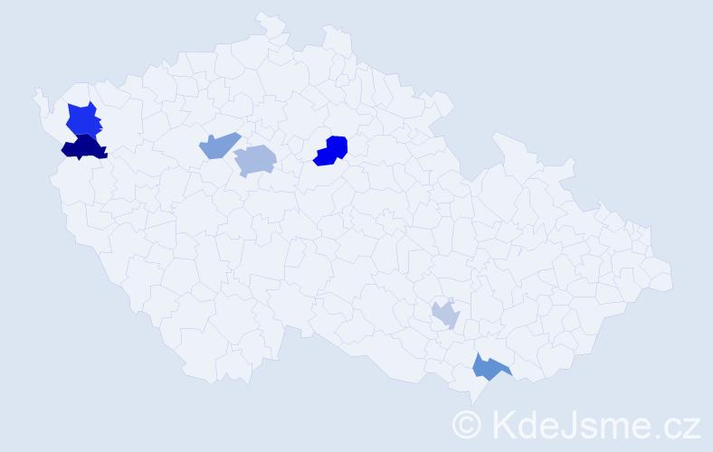 Jméno: 'Yusuf', počet výskytů 11 v celé ČR