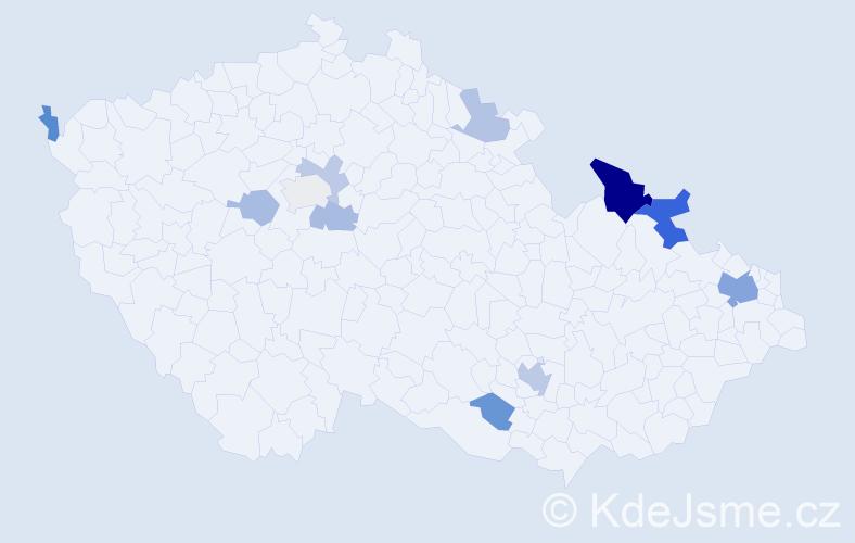 Jméno: 'Georgis', počet výskytů 24 v celé ČR