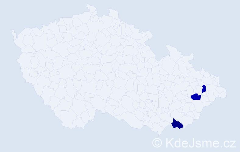 Jméno: 'Šimon Alois', počet výskytů 3 v celé ČR
