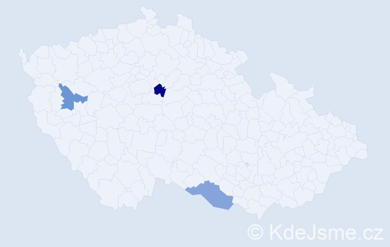 Jméno: 'Šárka Jana', počet výskytů 3 v celé ČR