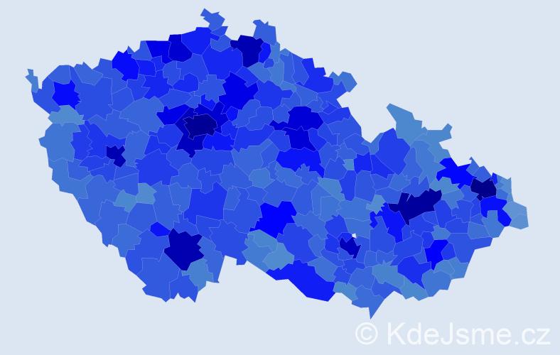 Jméno: 'Petra', počet výskytů 102620 v celé ČR