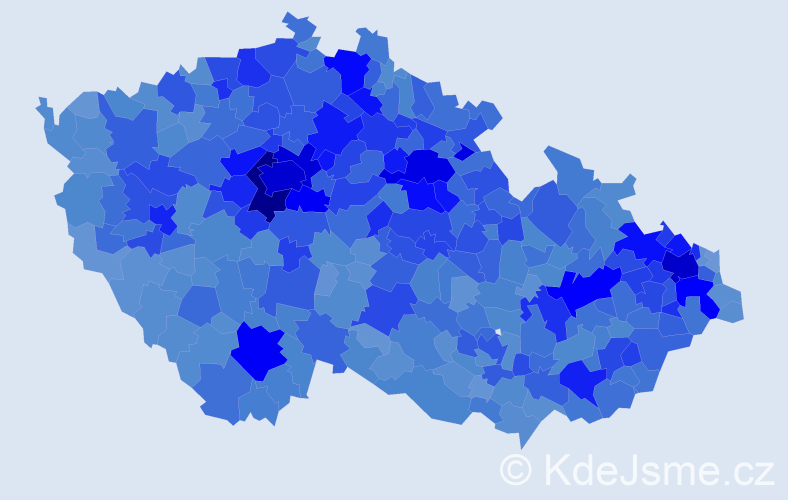 Jméno: 'Adéla', počet výskytů 42080 v celé ČR
