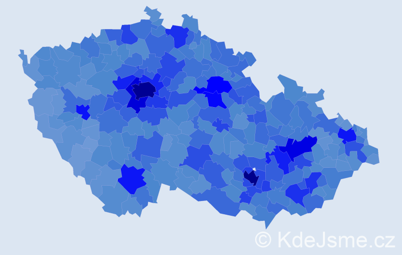 Jméno: 'Michal', počet výskytů 122735 v celé ČR