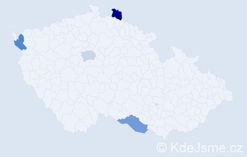 Jméno: 'Que Anh', počet výskytů 5 v celé ČR