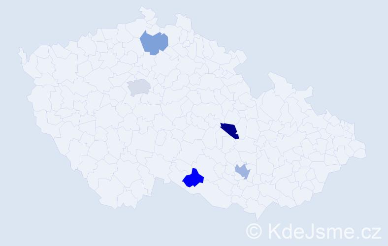 Jméno: 'Quentin', počet výskytů 7 v celé ČR
