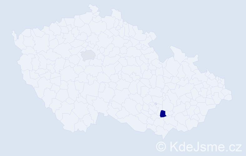 Jméno: 'Šimon Matyáš', počet výskytů 2 v celé ČR