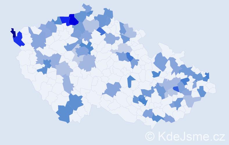 Jméno: 'Melissa', počet výskytů 170 v celé ČR