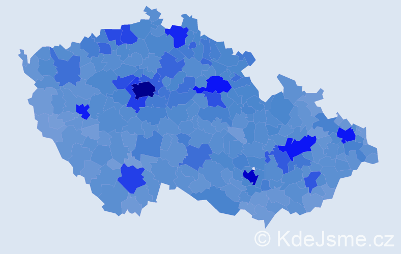 Jméno: 'Eva', počet výskytů 154570 v celé ČR