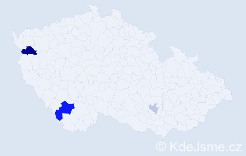 Jméno: 'Gabriel Ivan', počet výskytů 3 v celé ČR