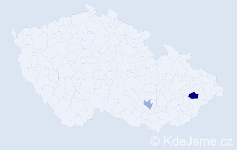 Jméno: 'Gianni Jan', počet výskytů 2 v celé ČR
