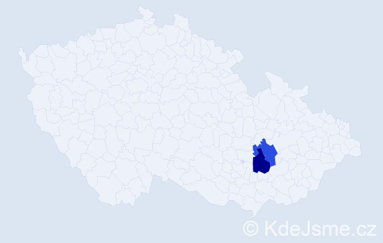 Jméno: 'Lea Kateřina', počet výskytů 2 v celé ČR