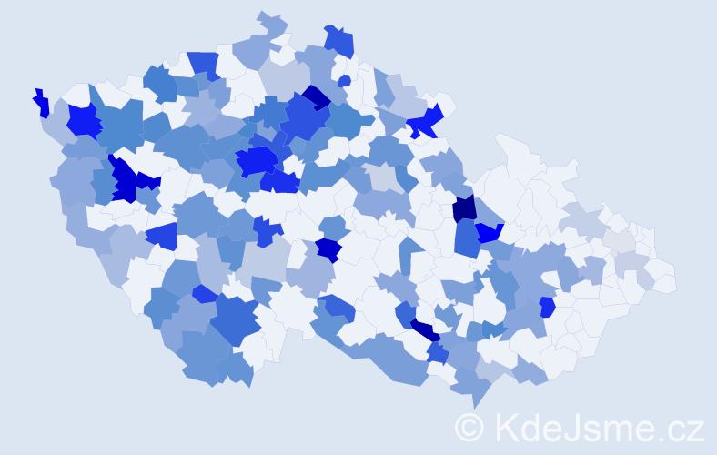 Jméno: 'Oksana', počet výskytů 290 v celé ČR