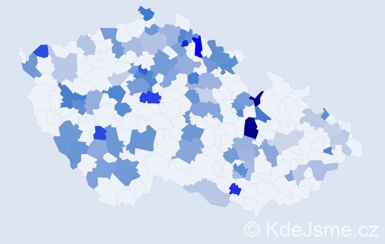 Jméno: 'Janek', počet výskytů 150 v celé ČR