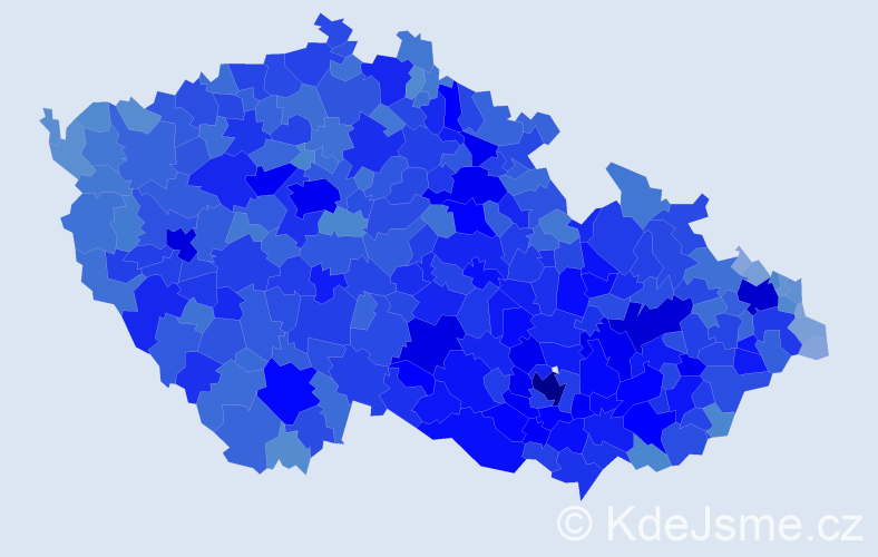 Jméno: 'Zdeněk', počet výskytů 134094 v celé ČR