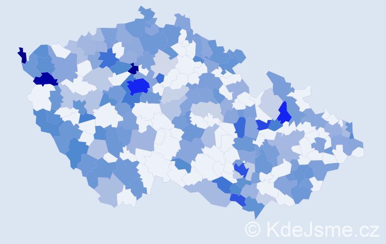 Jméno: 'William', počet výskytů 378 v celé ČR