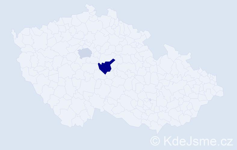 Jméno: 'Václav Bohumil', počet výskytů 2 v celé ČR